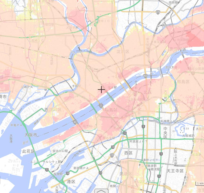大阪府 洪水浸水ハザードマップ